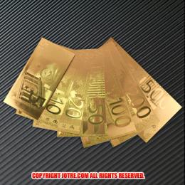 金のユーロセット レプリカ札