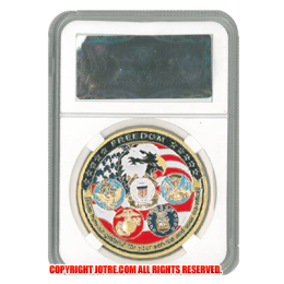 ケース入りジョーク金貨 アメリカ海軍・陸軍・空軍 コイン(金メッキ)