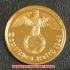 本物☆ナチスドイツ銀貨reichsreich2ライヒスペニヒコイン(金貨風)金メッキ加工済み通貨の画像2