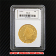 リバティヘッド・ダブルイーグル20ドル金貨1870年 Jotreオリジナルコレクションケース付き(レプリカコイン)