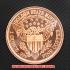リバティヘッド コッパーコイン 銅貨(レプリカ)の画像2