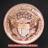 スタンディング・リバティ コッパーコイン 銅貨(レプリカ)の画像2