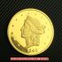 リバティヘッド・ダブルイーグル20ドル金貨1849年(レプリカコイン)の画像1