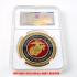 ケース入りジョーク金貨 アメリカ海軍 コイン(金メッキ)の画像1