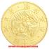 復刻版 近代銭 明治三年銘 旧二十圓 金貨 艶消し仕上げ レプリカの画像1