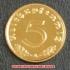 本物☆ナチスドイツ銀貨reichsreich5ライヒスペニヒコイン(金貨風)金メッキ加工済み 通貨の画像1