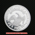 キャップト・バスト・ハーフダラー1821年銀貨プルーフ(レプリカコイン)の画像2