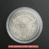 ドレイプト・バスト・ヘラルディック・イーグル銀貨1804年(レプリカコイン)の画像3