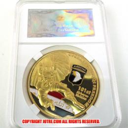 ケース入りジョーク金貨 Operation Iraqi Freedom イラク解放作戦 コイン(金メッキ)