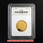 インディアンヘッド・イーグル・ゴールド10ドル金貨1909年プルーフ Jotreオリジナルコレクションケース付き(レプリカコイン)