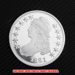 キャップト・バスト・ハーフダラー1821年銀貨プルーフ(レプリカコイン)