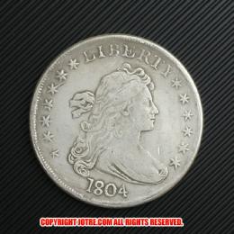 ドレイプト・バスト・ヘラルディック・イーグル銀貨1804年(レプリカコイン)