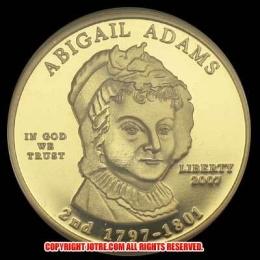 第2代アメリカ合衆国大統領ジョン・アダムス夫人アビゲイル・アダムズ10ドル金貨(レプリカコイン)