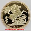 2013年 ソブリン金貨(レプリカコイン) Gold Sovereigns - St. George & Dragon Design