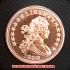 ドレイプト・バスト・ヘラルディック・イーグル コッパーコイン銅貨(レプリカコイン)の画像1