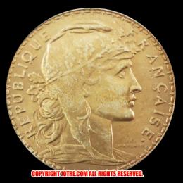 20フラン金貨(レプリカ) ルースター 8枚セット1907-1914年(レプリカコイン)