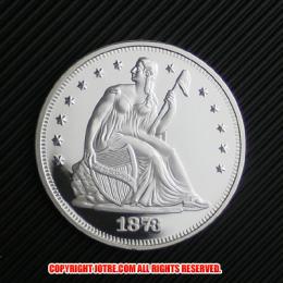 シーテッド・リバティ・ダラー銀貨1873年プルーフ(レプリカコイン)