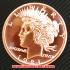 リバティヘッド コッパーコイン 銅貨(レプリカ)の画像1