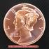 ウィングド・リバティ・ヘッド コッパーコイン 銅貨(レプリカ)の画像1