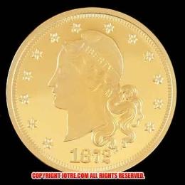 アマゾニアンゴールド20ドル金貨 1872年(レプリカコイン)