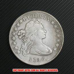 ドレイプト・バスト・スモール・イーグル・ハーフダイム・コイン銀貨1796年(レプリカコイン)