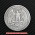 ワシントンクォーターダラー1932年銀貨1ドル(レプリカコイン)の画像2