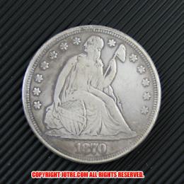 シーテッド・リバティ・ダラー1870年銀貨(レプリカコイン)