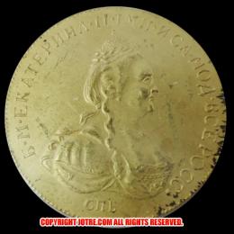 1780年 ロシア10ルーブル金貨(レプリカコイン)