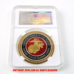 ケース入りジョーク金貨 アメリカ海軍 コイン(金メッキ)