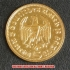本物☆ナチスドイツ銀貨reichsmark5ライヒスマルクコイン(金貨風)金メッキ加工済み 通貨の画像2