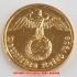 本物☆ナチスドイツ銀貨reichsreich10ライヒスペニヒコイン(金貨風)金メッキ加工済み 通貨の画像2