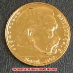 本物☆ナチスドイツ銀貨reichsmark5ライヒスマルクコイン(金貨風)金メッキ加工済み 通貨