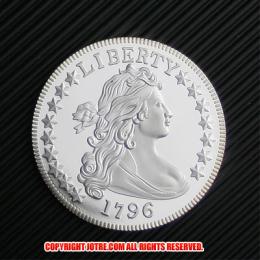 ドレイプト・バスト・スモール・イーグル・コイン銀貨1796年10 セント(レプリカコイン)
