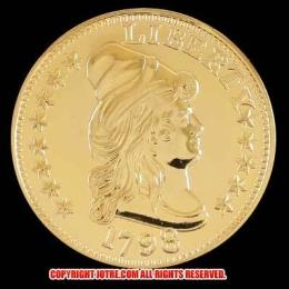 キャップド・バスト(右向き)ヘラルディックイーグル金貨1798年(レプリカコイン)