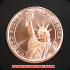 自由の女神 スタチューオブリバティ コッパーコイン 銅貨(レプリカ)の画像1