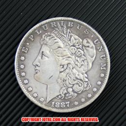 モルガン1ドル銀貨1887年(レプリカコイン)