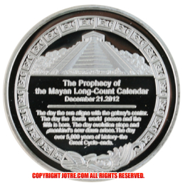 US Prophecy of the Mayan Long-Count Calendar 2012年 レプリカコインシルバー