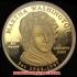 初代アメリカ合衆国大統領ジョージ・ワシントン夫人マーサ・ワシントン10ドル金貨(レプリカコイン)の画像2