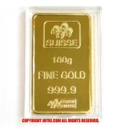 Pamp Suisse 100g ゴールドプレート