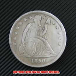 シーテッド・リバティ・ダラー1850年銀貨(レプリカコイン)