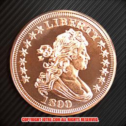 ドレイプト・バスト・ヘラルディック・イーグル コッパーコイン銅貨(レプリカコイン)