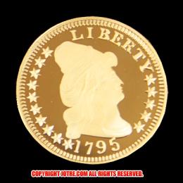 キャップド・バスト(右向き)スモールイーグル金貨1795年(レプリカコイン)