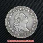 フローイング・ヘア・ダラー1ドル銀貨1795年(レプリカコイン)