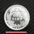 バーバー・ダイム10セント銀貨1895年(レプリカコイン)の画像2