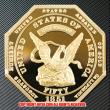 アメリカ 50ドル金貨1851年ハンバート887レプリカコイン