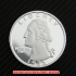 ワシントンクォーターダラー1932年銀貨1ドルプルーフ(レプリカコイン)の画像1