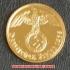 本物☆ナチスドイツ銀貨reichsreich5ライヒスペニヒコイン(金貨風)金メッキ加工済み 通貨の画像2