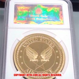 ケース入りジョーク金貨 アメリカ空軍 US AIR FORCE コイン(金メッキ)