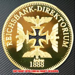 ドイツ1888年金貨(レプリカ)