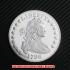 ドレイプト・バスト・スモール・イーグル・コイン銀貨1796年10 セント(レプリカコイン)の画像1